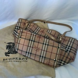 Burberry Canterbury Tote Haymarket Coated Canvas